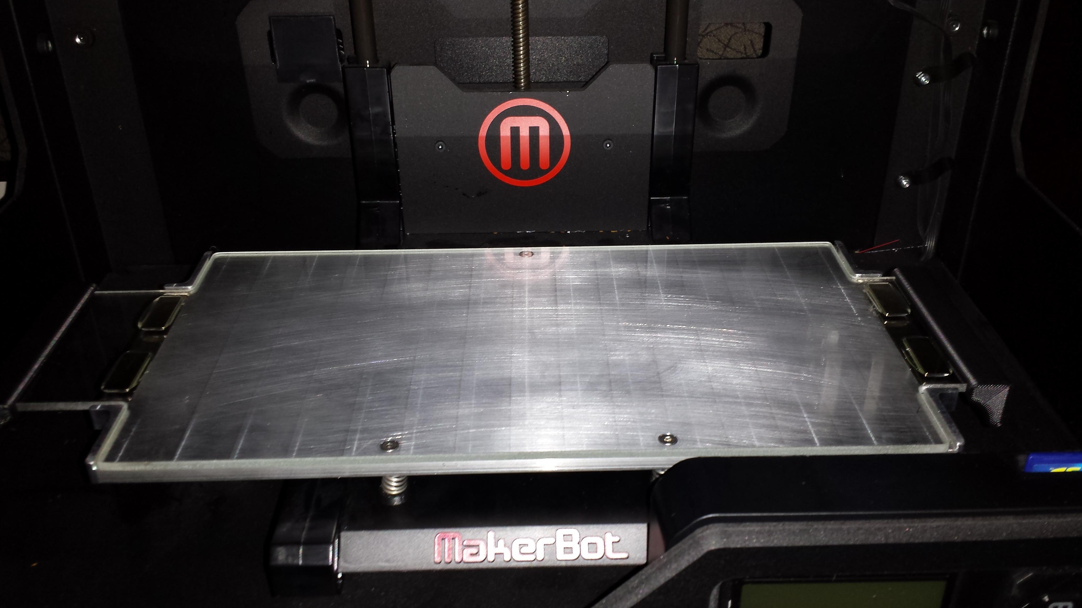 Makerbot replicator 2 heated platform
